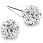 JCPenney STERLING SILVER EARRINGS Crystal Sterling Silver Ball Stud Earrings