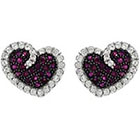 Target 7/8 CT. T.W. Tressa Round Cut Cubic Zirconia Pave Set Stud Earrings in Sterling Silver - Multicolored