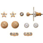 LC Lauren Conrad Star & Ball Stud Earring Set
