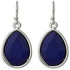 Target Small Faceted Teardrop Earring - Blue/Silver