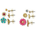 Target Flower Stud 6 Piece Earring Set - Multicolor