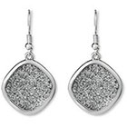 Target Glitter Drop Earrings - Silver
