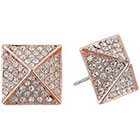 Vince Camuto Rose Gold Pave Pyramid Studs in Rose Gold