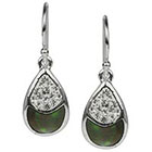 Target Fancy Teardrop Dangle Earring - Black/Silver