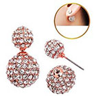 Target Zirconite Women's Zirconite Crystal Pave Peekaboo Earring - Pink