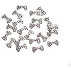 Amazon Leegoal 10pcs Special Charming 3D Nail Art Designs Nail Art Bow Tie Alloy Rhinestones DIY Decoration