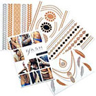 Flash Tattoos Zahra Temporary Tattoos in Metallic