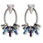 Target 8OR 8 Other Reasons Dangle Post Earrings with Stones in Silver Setting - Blue