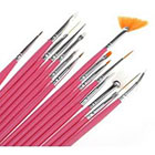 Amazon 15pcs Acrylic Nail Art Design Painting Tool Pen Polish Brush Set Kit DIY Pro