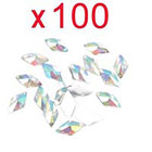 Amazon So Beauty 100pcs Colorful Rhombus Flat Back Rhinestones Flatback acrylic Gems for Nail Art