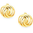 Charter Club Gold-Tone Openwork Button Earrings