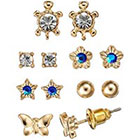 LC Lauren Conrad Star, Flower, Turtle & Butterfly Stud Earring Set