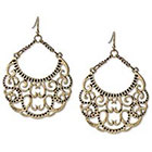 Target Etched Metal Chandelier Earring - Gold