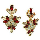 Target Casted Earring with Marquis Stones - Red