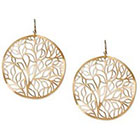 Target Disc Earring Filigree Tree of Life - Gold