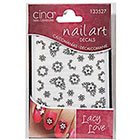 Cina Nail Creations Nail Art Jewelry Decals Ice Sparkles Rhinestones in Lacey Love 3D