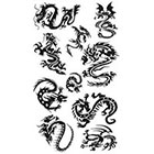 Amazon.com Supperb Lower Back, Shoulder, Neck, Arm Temporary Tattoos - Small Dragons