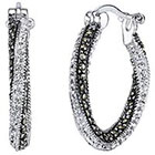 Target Silver Plated Marcasite and Crystal Twist Earring
