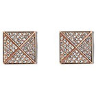 Vince Camuto Rose Gold-Tone Pyramid Pave Stud Earrings in ROSE GOLD GOLD PE