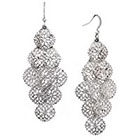 Target Dangle Earrings - Silver