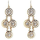 Target Drop Earrings - Gold/Silver