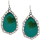 Target Drop Earrings - Silver/Turquoise