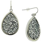 Target Teardrop Earring with Druzy - Silver/Crystal