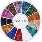 Amazon Premium Manicure Nail Art Decorations Wheel With Beads Pearls Caviar In 12 Different Colors By VAGA®