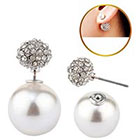 Target Zirconite Women's Zirconite Pearl/Crystal Peekaboo Earring - White