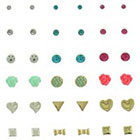 Target Stud Earrings Set of 18 - Multicolor