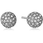 Fossil Pave Ball Stud Earrings