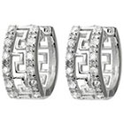 Target 1/4 CT. T.W. Tressa Collection Round Cut Cubic Zirconia Pave Set Hoop Earrings - Silver