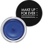 Make Up For Ever Aqua Cream in 20 Intense Blue bright blue sheen