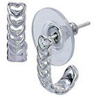 Target Sterling Silver Heart J Hoop Earring - Silver