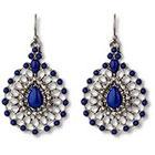 Target Filigree Cabachon Teardrop Earring - Blue/Silver