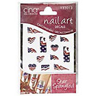 Cina Nail Creations Nail Art Jewelry Decals Ice Sparkles Rhinestones in Patriot Flags