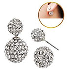 Target Zirconite Women's Zirconite Crystal Pave Peekaboo Earring - Clear