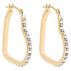 Diamond Heart Sterling Silver Earrings with Accents - Yellow