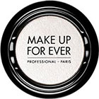 Make Up For Ever Artist Shadow Eyeshadow and powder blush in ME122 Snow (Metallic) eyeshadow