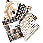 Flash Tattoos Nikki Temporary Tattoos in Metallic