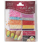 Cina Nail Creations Nail Art Jewelry Decals Ice Sparkles Rhinestones in Over The Rainbow Crushed Shells Glitter
