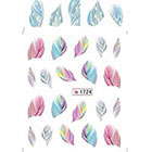 Amazon MSmask Fashion Cute Feather Nail Water Decals Art Transfer Stickers Nail DIY Decoration