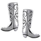 Tressa Collection Cowboy Boot Stud Earrings in Sterling Silver - Silver