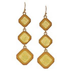 Target Drop Earring with Stones - Gold and Yellow