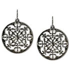 Target Round Metal Cut Out Disc Earring - Silver