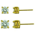 Target Duo Round Stud Earrings Set - Gold (3mm/4mm)