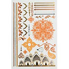 Glo Tatts Tatts Mehndi Sheet in MULTICOLOR