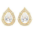 Journee Collection 2 3/4 CT. T.W. Pear Cut CZ Basket Set Stud Earrings in Brass - Gold