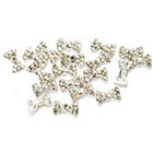 Amazon 20 Premium 3D Clear Rhinestones Bow Tie Manicure Nail Art Decorations By Cheeky®