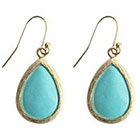 Target Zirconite Fish Hook Earring - Turquoise